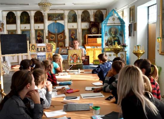 Мастер-класс в иконописной мастерской.